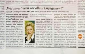 Oberbürgermeisterin Petra Roth über die Ausbildung der ESOD