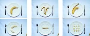 6 wege einer Banane
