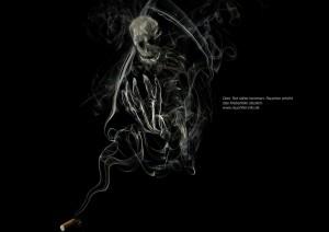Anti Raucher Kampange im Studium Kommunikationsdesign 1