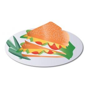 Design Studentin illustriert Sandwich
