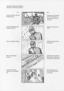 Design Studentin mit Spiderman