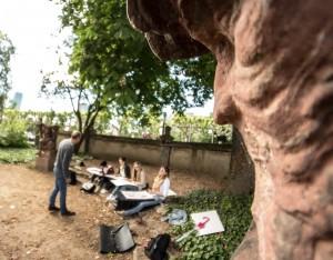 Designstudium Frankfurt-Skulpturen zeichnen am Liebighaus