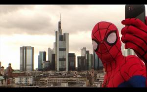 Film Design Student Selfie Spiderman