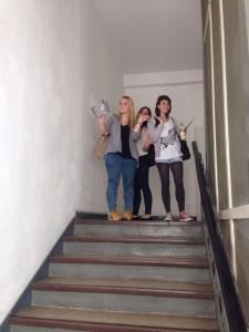 Kommunikationsdesign Studenten erkunden das Bahnhofsviertel