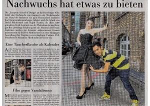 Kommunikationsdesign-Studierende in der Frankfurter Neuen Presse
