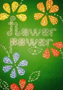 Typografie bei Anja Hasenstein, Meine Werbeplakatidee für das Flower Power Event