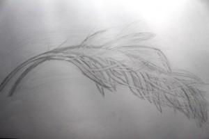 Zeichnung aus dem Designstudium