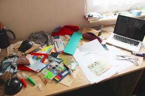 Designstudent bei der Arbeit