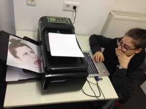 Kreative beim Drucken
