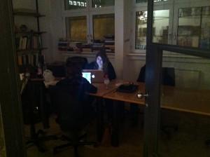 nachtschicht in der design schule