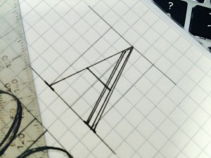 Designstudenten erstellen ihre eigene Schriftart