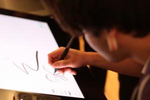 Design Student kreativ testet Wacom Tablet 2