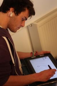 Design Student testet Wacom Tablet