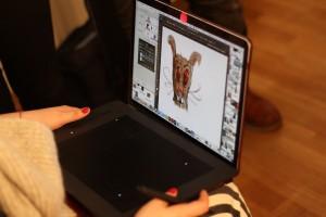Design mit Wacom Tablet