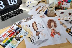 Designstudentin versucht sich als Karikaturistin