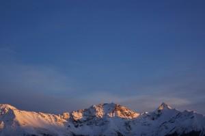 Gipfelglühen fotografiert von Designstudentin