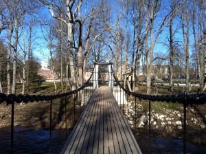 on bridge over the Keila River, Estonia