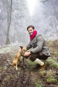 Der Jäger mit dem Hund