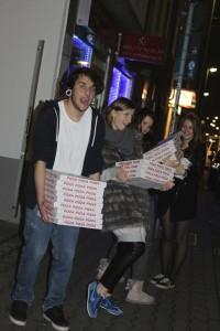 pizza nach dem aufbau