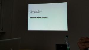 Designstudent präsentieren ihre Ergebnisse der Deutschen Bildung