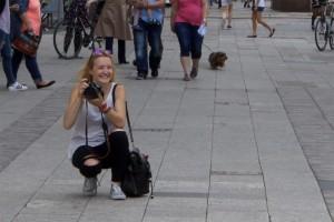 Laura am fotografieren