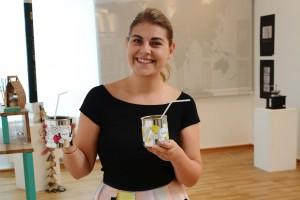 Designstudentin präsentiert ihr Fooddesign