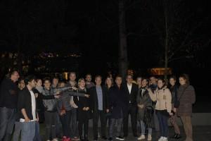 Andreas Gursky mit Designstudierenden der ESOD aus Frankfurt