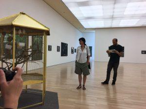 Mit Sandra Mann in ihrer Ausstellung in Gießen