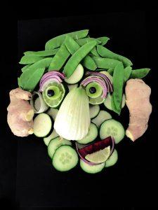 Designstudentin gestaltete mit Gemüse
