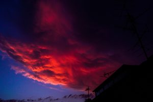 Rote Wolke