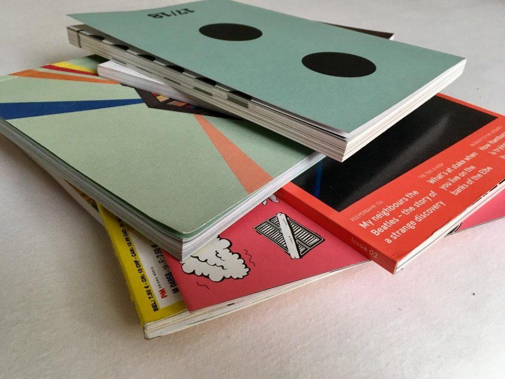 Designstudentin sucht nach schön gestalteten Magazinen
