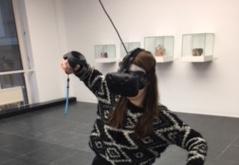 Designstudentin erlebt virtual reality