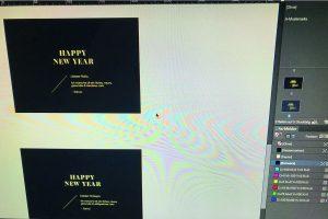 Designstudentin gestaltet Neujahrsgrusskarte