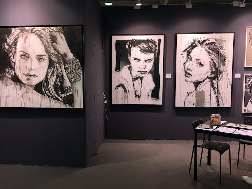 Porträts aus Aquarell und Acrylfarbe