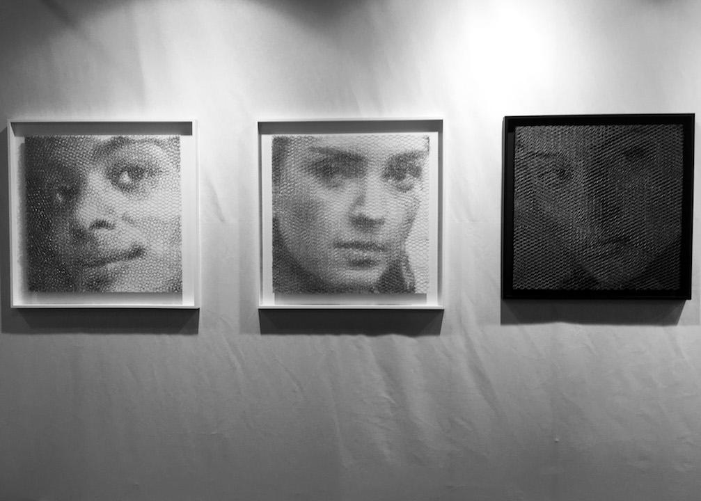 Porträts aus Draht