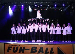 Die Designerin aus Frankfurt als Mitglied der Missys vom Fun Ball