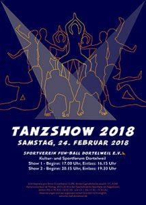 Kommunikationsdesignerin aus Frankfurt designt das Tanzshow Plakat 2018