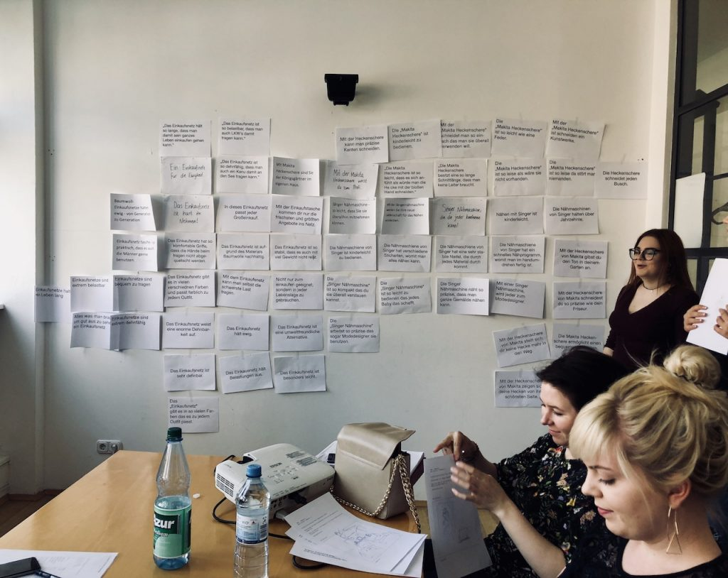 Auf der Suche nach guten Hauptaussagen im Fach Konzeption Print
