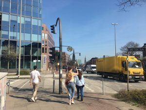 Designstudenten erkunden Hamburg