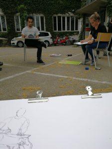 Design Studium Zeichnen im Freien