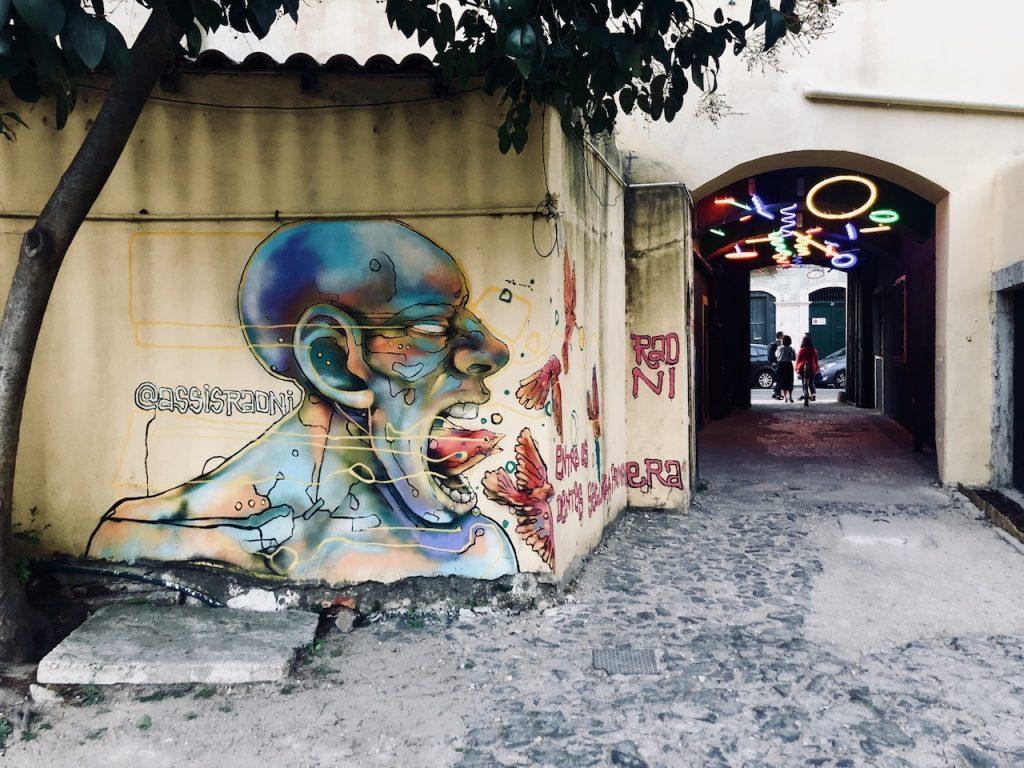 Streetart in Lissabon begeistert Designstudentin