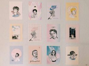 Designstudentin dekoriert mit eigenen Prints