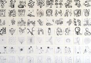 Scribble-Übungen im Golden Bee Workshop an der European School of Design