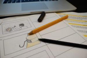 Designstudenten schreiben Drehbücher