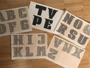 Typografie Designstudium