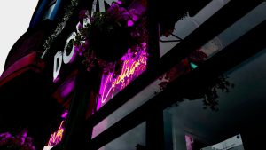 designstudentin fotografiert neon signs