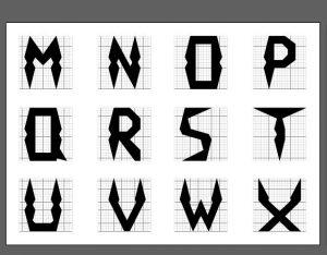 Typographie Alphabet