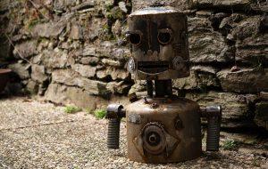 Designstudent baut Roboter-Büste
