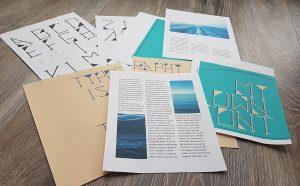 Fortschritt am Typografie Buch