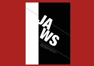 Jaws Poster Swiss-Style